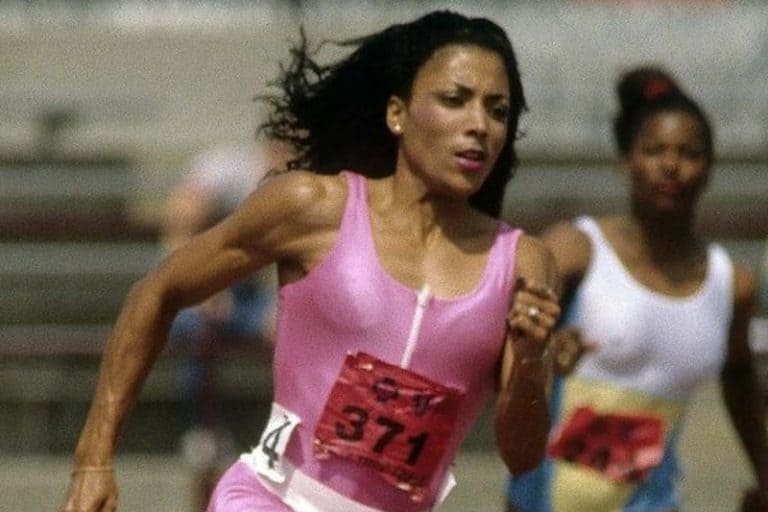 Flo Jo Running In Pink Track Uniform