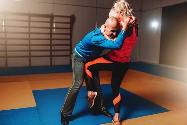 Practicing Self Defense Technique