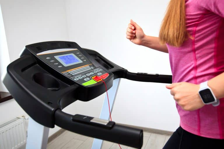 Running on a Treadmill at her Home