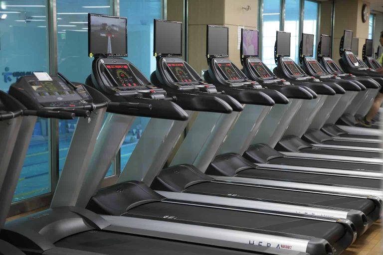 Treadmills on a Gym