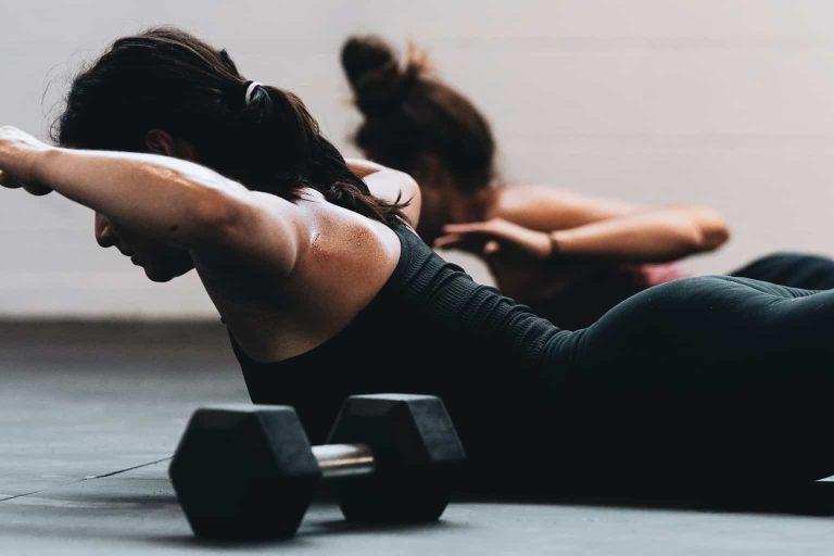 Two Women Stretching