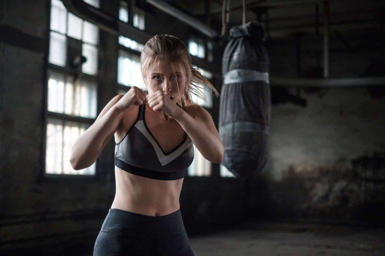 Woman Practicing Striking