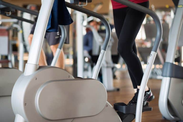 Woman Stepping on an Elliptical