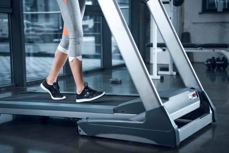 Woman Using a Treadmill