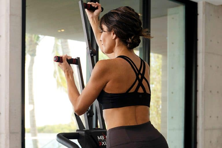 Woman Working Out on a MaxiClimber